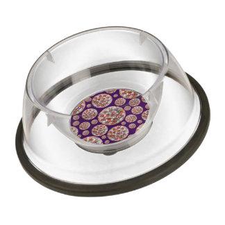 Purple pizza pie pet bowl