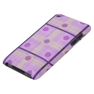 Purple Plaid and Polka Dots iPod Case-Mate Cases