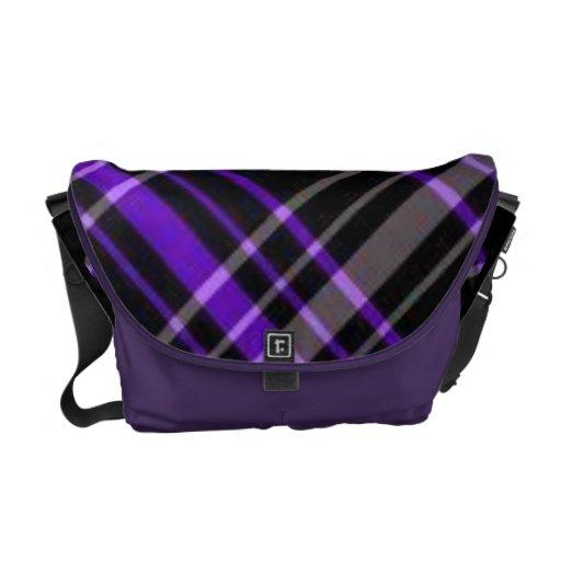 purple plaid bag messenger bag
