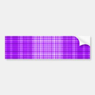 Purple Plaid Bumper Stickers