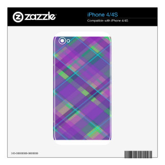 Purple Plaid iPhone 4 Decal