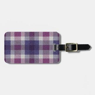 Purple Plaid Luggage Tags