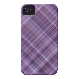 Purple plaid pattern iPhone 4 cases