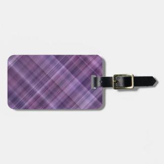 Purple plaid pattern tag for luggage