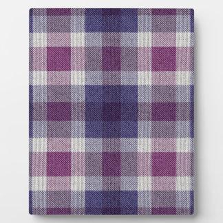 Purple Plaid Plaque
