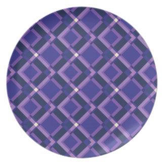 Purple Plaid Plates