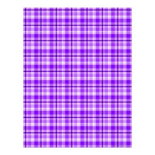 Purple Plaid Scrapbook Paper Letterhead