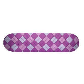 Purple Plaid Skate Deck