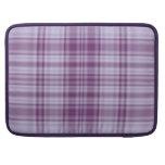 Purple Plaid Skull Sleeves For MacBook Pro