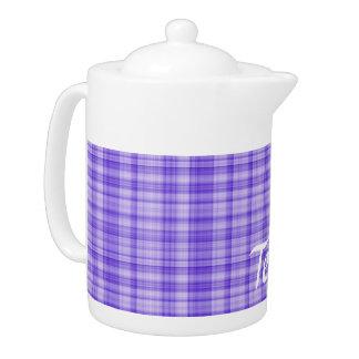 Purple Plaid Teapot