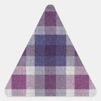 Purple Plaid Triangle Sticker
