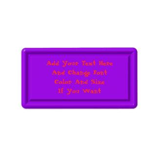 Purple Plastic Label Template