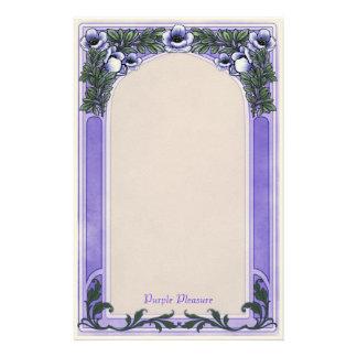 Purple Pleasure - Deco Stationery