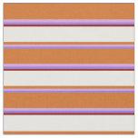 [ Thumbnail: Purple, Plum, Chocolate, Mint Cream & Dark Red Fabric ]