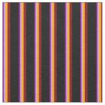 [ Thumbnail: Purple, Plum, Orange, Maroon & Black Pattern Fabric ]