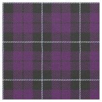 Purple/Plum plaid with white/black stripe Fabric