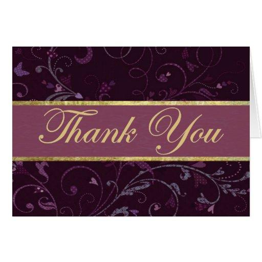 Purple & Plum Thank You Card