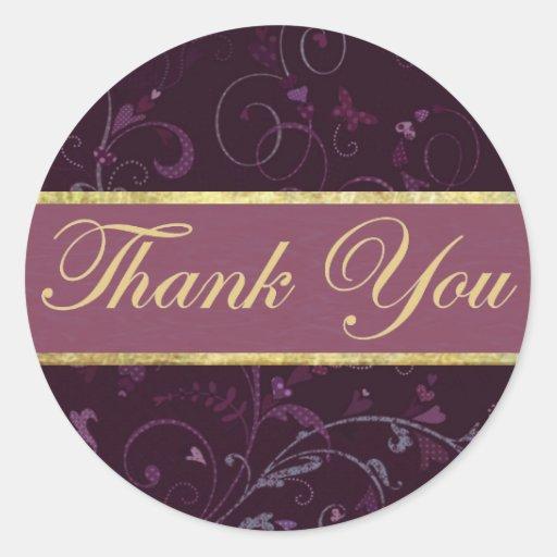 Purple & Plum Thank You Sticker/Seal