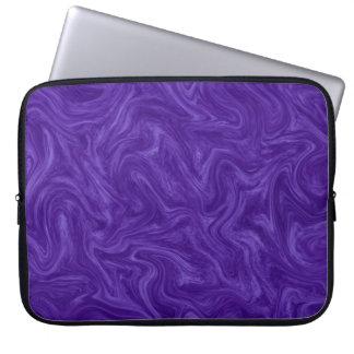 Purple Plum Tonal Abstract Swirled Background Computer Sleeve