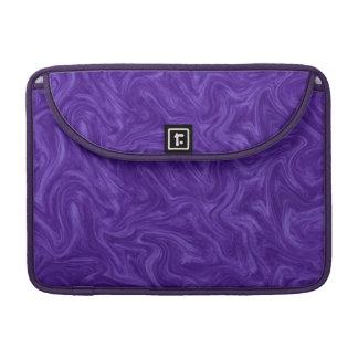 Purple Plum Tonal Abstract Swirled Background MacBook Pro Sleeve