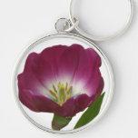 Purple Plum Tulip Key Chain