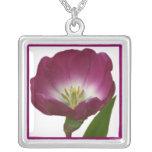 Purple Plum Tulip Pendant