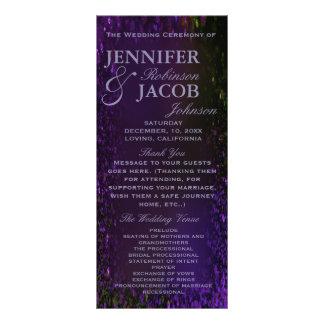 Purple Plum Wedding Program