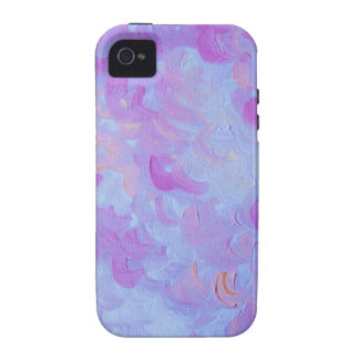 PURPLE PLUMES - Soft Pastel Wispy Lavender Clouds Case-Mate iPhone 4 Case