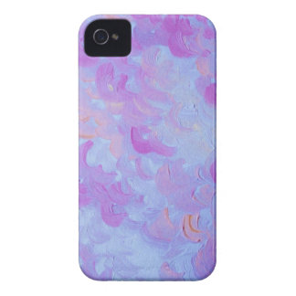 PURPLE PLUMES - Soft Pastel Wispy Lavender Clouds iPhone 4 Case