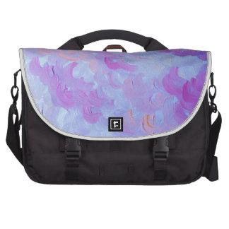 PURPLE PLUMES - Soft Pastel Wispy Lavender Clouds Laptop Computer Bag