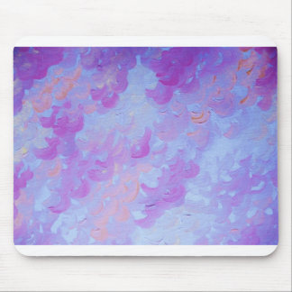 PURPLE PLUMES - Soft Pastel Wispy Lavender Clouds Mouse Pad