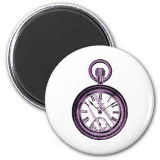 purple pocket watch magnet