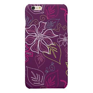 Purple Poinsettia Glossy iPhone 6 Plus Case