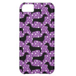 Purple Polka Dachshunds Case For iPhone 5C