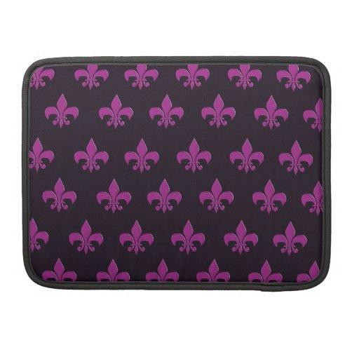 Purple polka dot and shape design sleeves for MacBooks