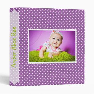 Purple Polka Dot Baby Album Binder