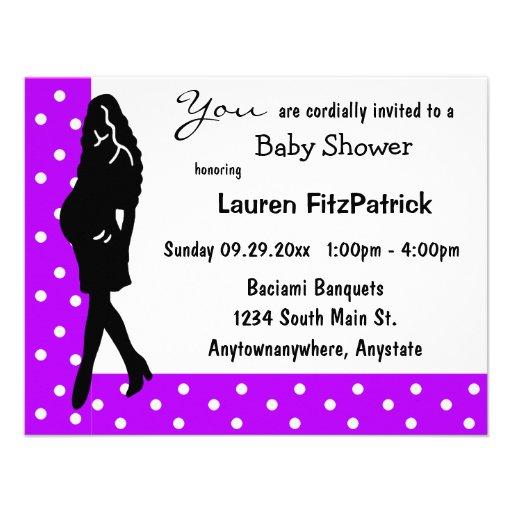 purple polka dot baby shower invitation zazzle