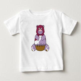 Purple Polka Dot Bear Infant T-shirt