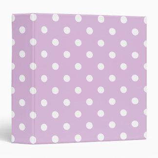 Purple Polka Dot Binder