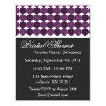 "Purple Polka Dot Bridal Shower Invitations 4.25"" X 5.5"" Invitation Card"