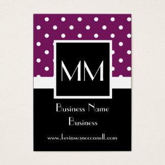 Purple polka dot business card