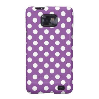 Purple Polka Dot Galaxy S2 Covers