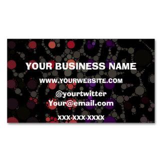 Purple Polka-dot Cheetah Business Card Magnet