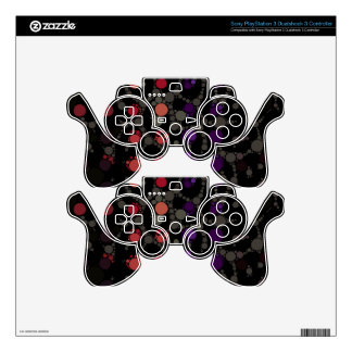 Purple Polka-dot Cheetah Skin For PS3 Controller
