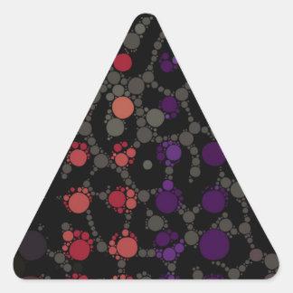 Purple Polka-dot Cheetah Triangle Sticker