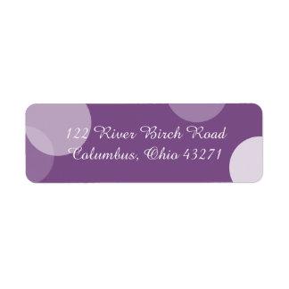 Purple Polka Dot Confetti Address Label