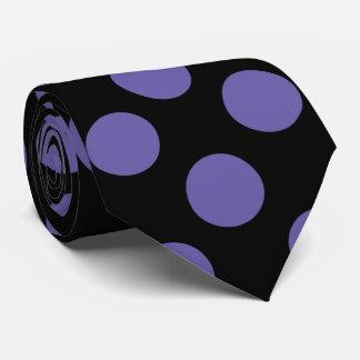 Purple Polka Dot Mens Tie