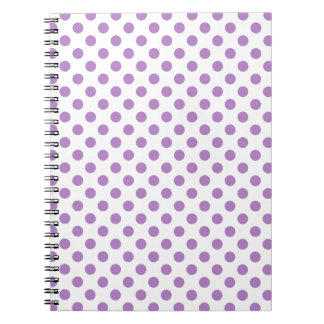 Purple Polka Dot Spiral Note Book