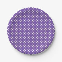 Purple polka dot paper plates | party supplies