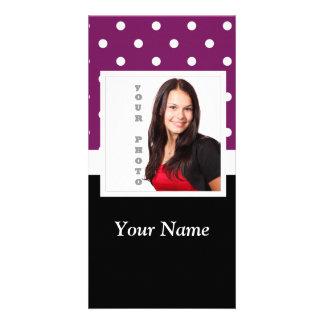 Purple polka dot photo template